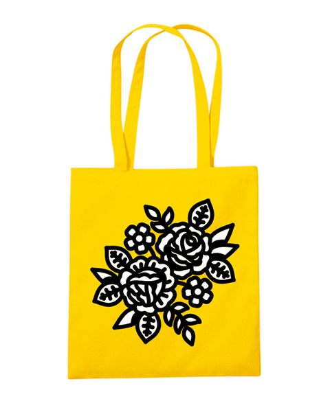 FLOWER TOTE BAG YELLOW