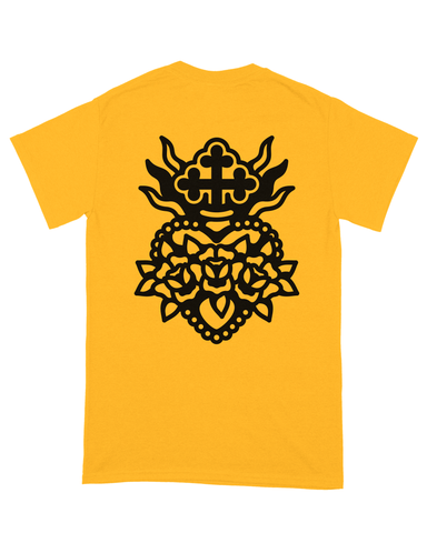SACRED HEART TEE YELLOW
