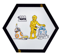 Deserted Dabbin' Droids | Premium 10 inch XL Hexagon Non-Stick Silicone Mat | Dabmat | Baking Mat | Platinum Cured Medical Grade Silicone