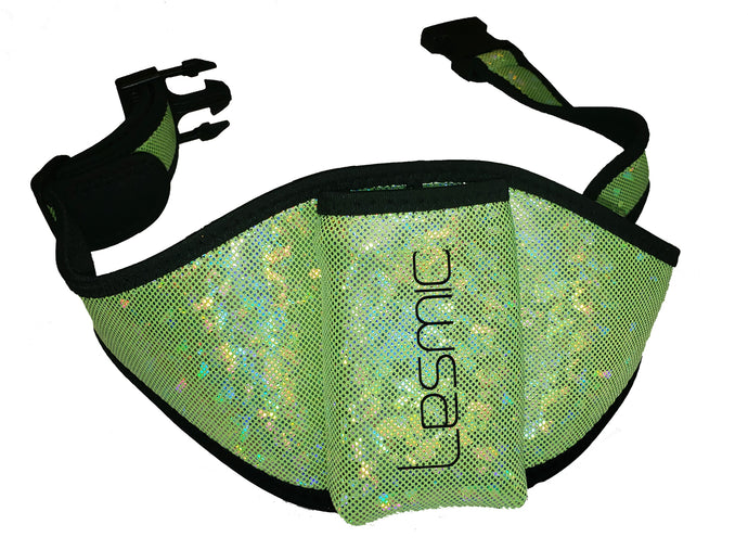 Lesmic Glitter Series -Green Adjustable Vertical Fitness / Aerobic Belt Pouches