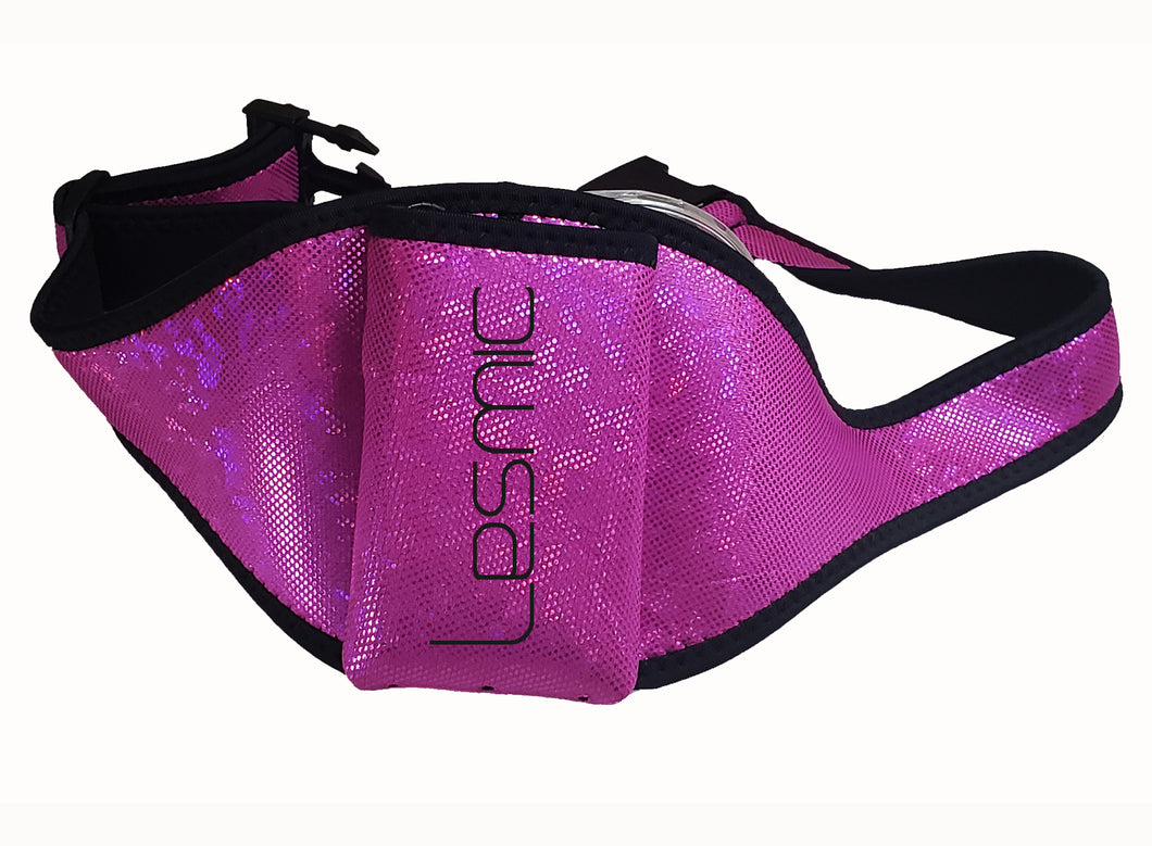 Lesmic Glitter Series -Purple Adjustable Vertical Fitness / Aerobic Belt Pouches