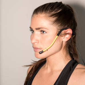 Lesmic (Bendable) - Waterproof / Sweatproof Headset Microphone for Fitness Instructors - Fitsonics.com - Online 1 stop of Fitness Instructor gadgets