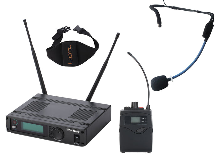 MyMic - COMMERCIAL - Bodypack Type Wireless Mic System w/ GoMic Sweat Proof Fitness Headset - FSW-1000BG