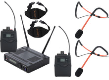 MyMic - COMMERCIAL - Heavy Use Bodypack Type Wireless Mic System w/ Lesmic Fitness Waterproof Headset - FSW-2000BL