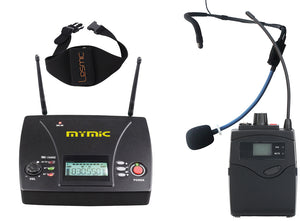 MyMic - PORTABLE -  Body pack Type Wireless Mic System w/ GoMic Sweat Proof Fitness Headset - FSW-3000BG