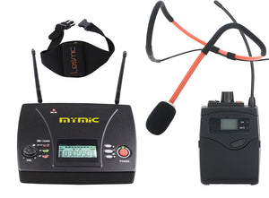 MyMic - PORTABLE -  Body pack Type Wireless Mic System w/ Lesmic Waterproof Fitness Headset - FSW-3000BL