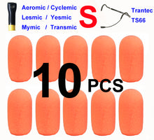 Aeromic Cyclemic Lesmic Yesmic Mymic Transmic Trantec TS66 Oval Windscreen Mic Foams Windshield - 10-pack BLACK/BLUE/ORANGE/PINK