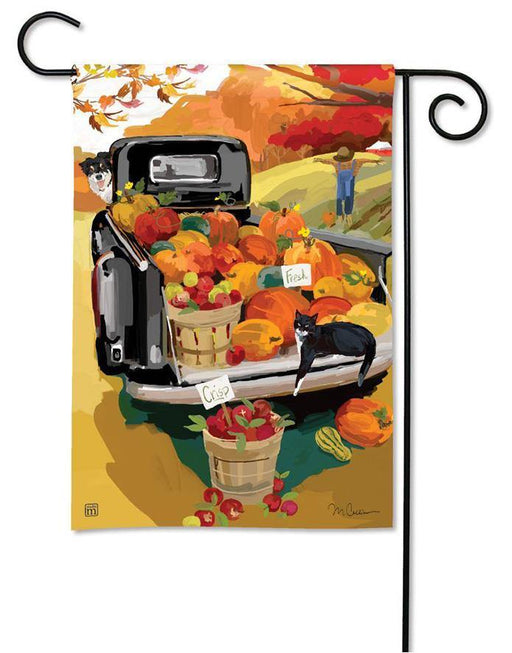 Garden Flags - Garden Flag - BreezeArt - Pumpkin Truck