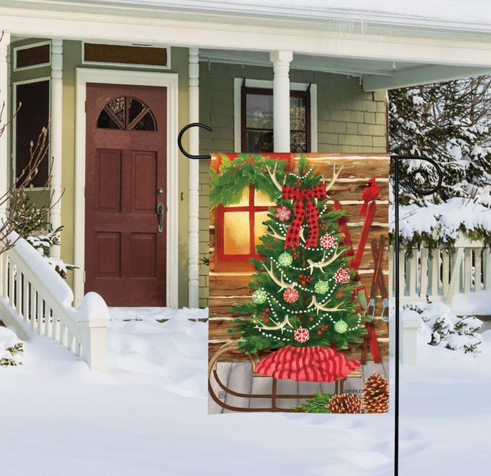 Garden Flag - BreezeArt - Christmas at the Cabin