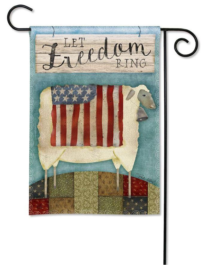 Garden Flag - BreezeArt - Freedom Sheep