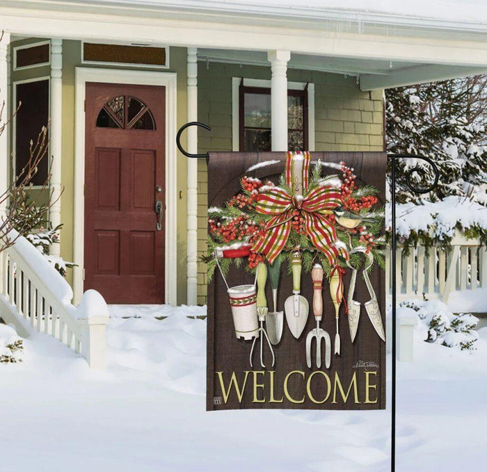 Garden Flag - BreezeArt - Winter Gardening