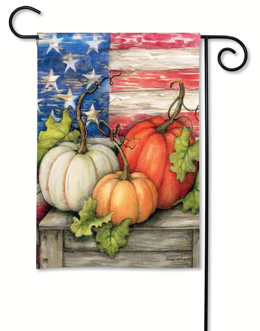 Garden Flags - Garden Flag - BreezeArt - Patriotic Pumpkins