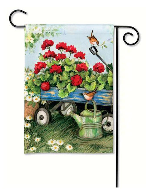 Garden Flags - Garden Flag - BreezeArt - Geraniums By The Dozen