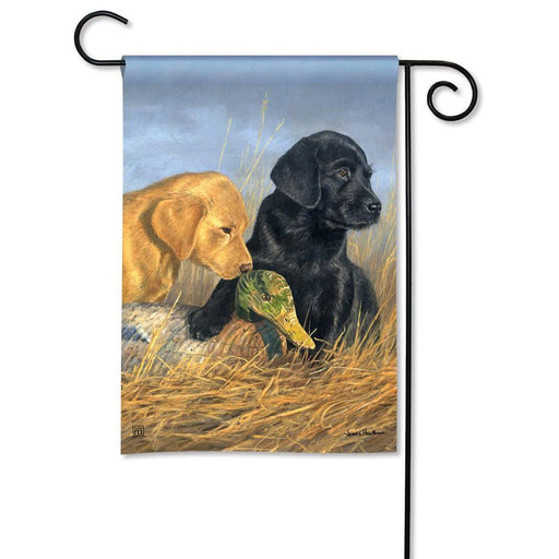 Garden Flags - Garden Flag - BreezeArt - Lab Puppies
