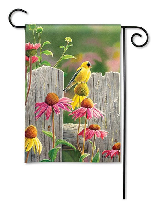 Garden Flags - Garden Flag - BreezeArt - Goldfinches & Coneflowers