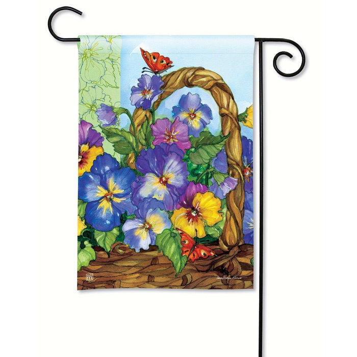 Garden Flags - Garden Flag - BreezeArt - Pansy Basket
