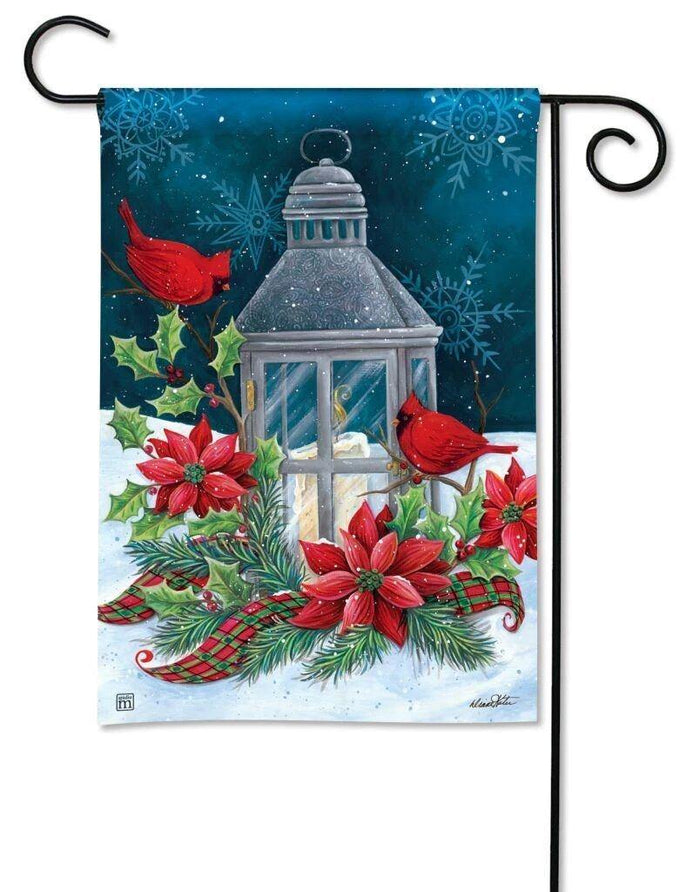 Garden Flags - Garden Flag - BreezeArt - Cardinal Christmas