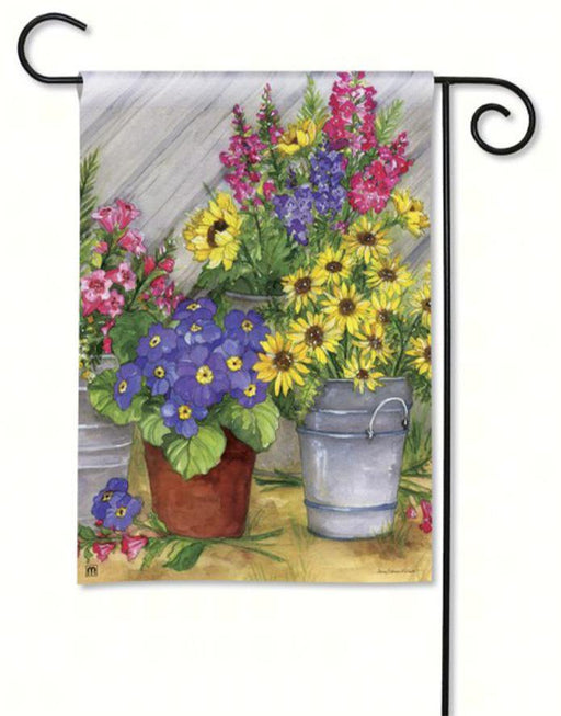Garden Flags - Garden Flag - BreezeArt - Blossom Buckets