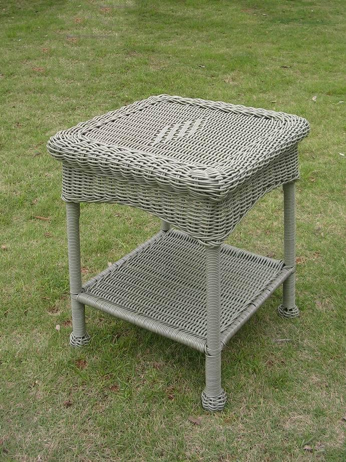 Outdoor Furniture - Outdoor Large Side Table – Resin Wicker & Steel – Maui