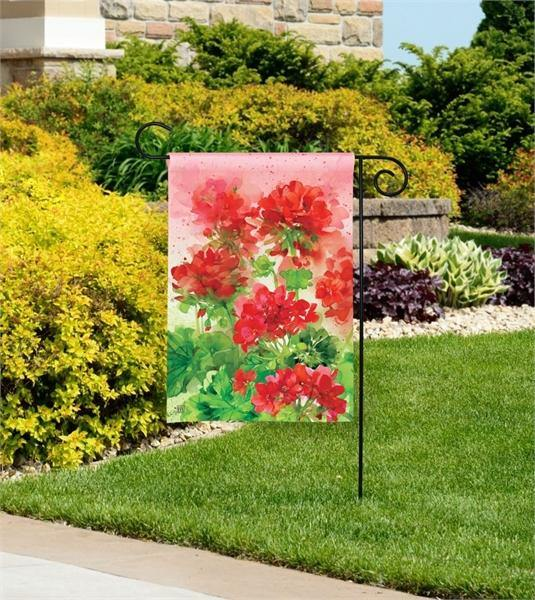 Garden Flag - BreezeArt - Geranium Garden - My Backyard Decor