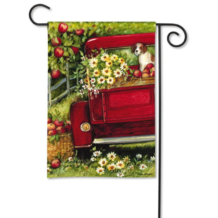 Garden Flag - BreezeArt - Red Truck