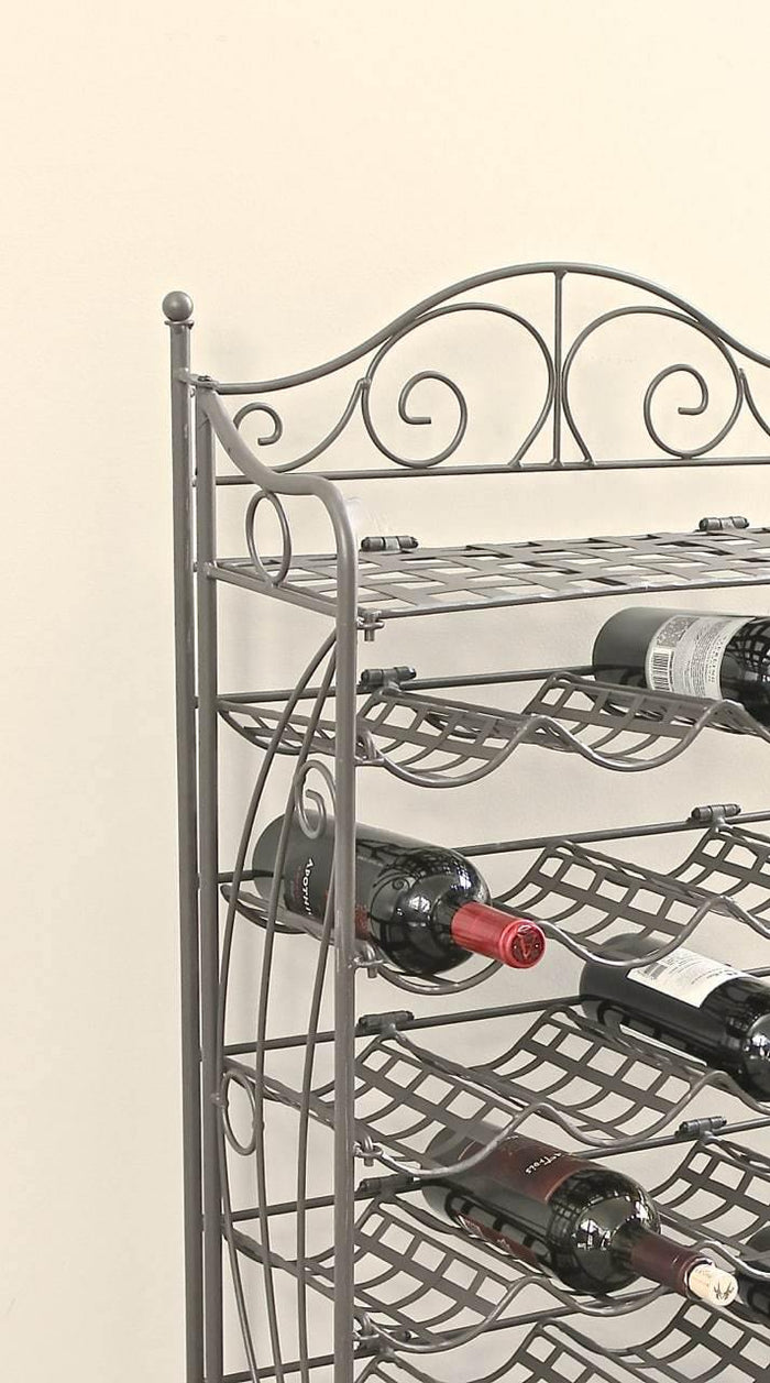 24 Bottle Wine Rack – Powder Coated Iron - Mandalay