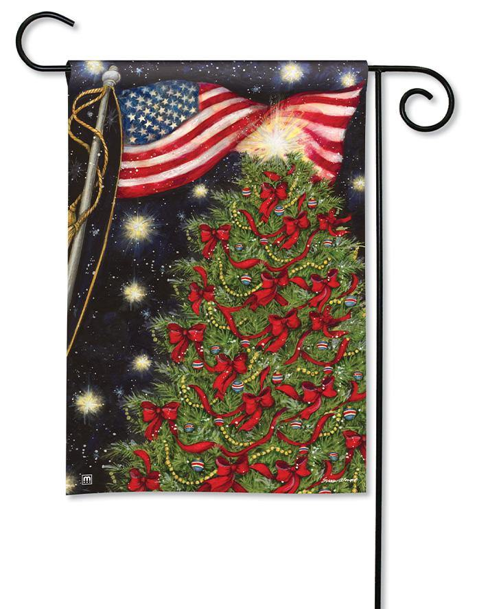 Garden Flag - BreezeArt - Patriotic Christmas