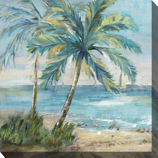 Outdoor Canvas Art 24x24 Coastal Palm 1 - My Backyard Decor