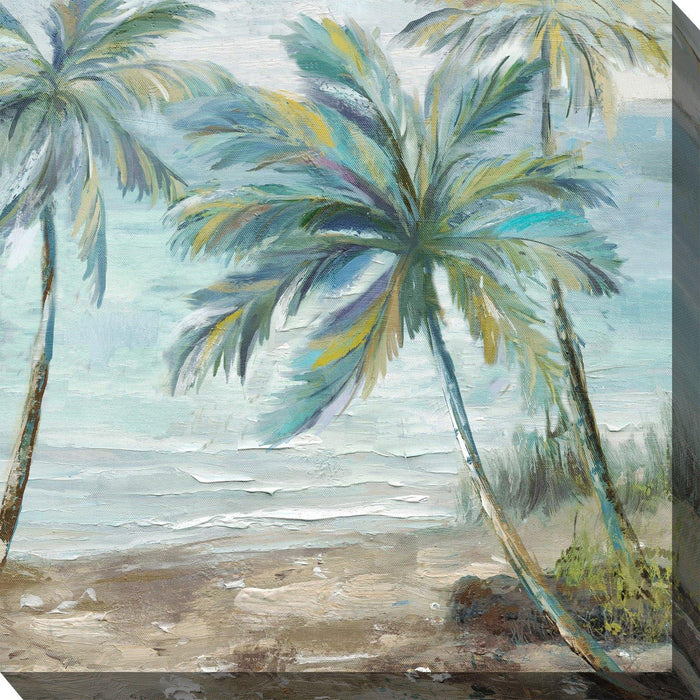 Outdoor Canvas Art 24x24 Coastal Palm 2 - My Backyard Decor