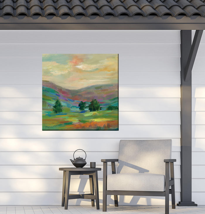 Outdoor Canvas Art 24x24 Fields Afar