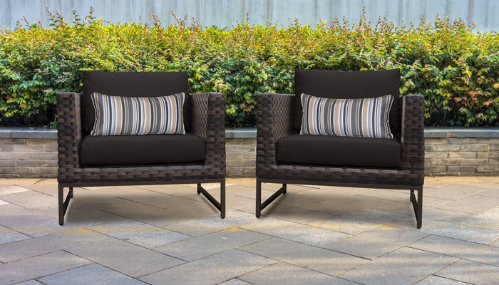 Patio Furniture - TKC Outdoor Wicker Patio Furniture – Set Of 2 Club Chairs – Barcelona