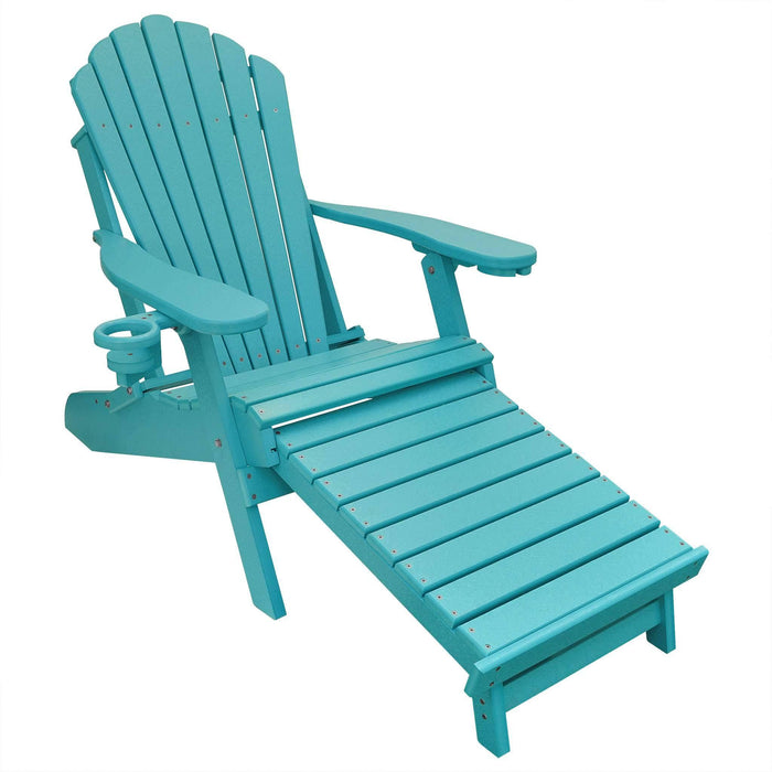 Adirondack Chair - Deluxe Adirondack Chair With Footrest Poly Lumber Made In The USA