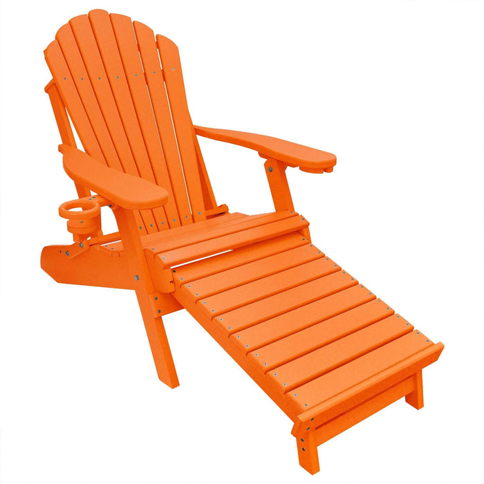 Deluxe Adirondack Chair with Footrest Poly Lumber Made in the USA
