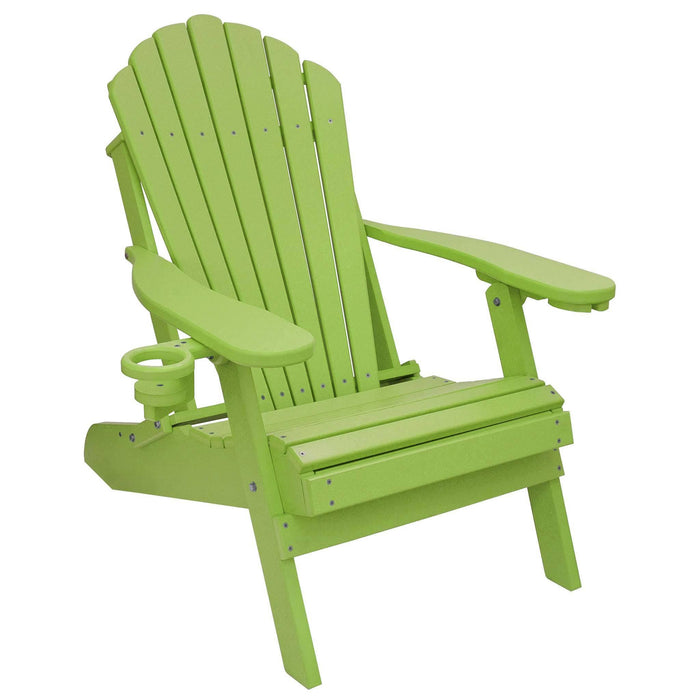 Adirondack Chair - Deluxe Adirondack Chair Poly Lumber Made In The USA