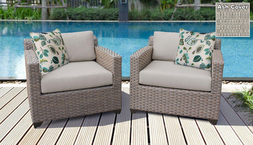 Patio Furniture - TKC Outdoor Wicker Patio Furniture – Set Of 2 Club Chairs – Florence