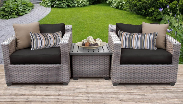 TKC Outdoor Wicker Patio Furniture Set 3 Pieces – Florence