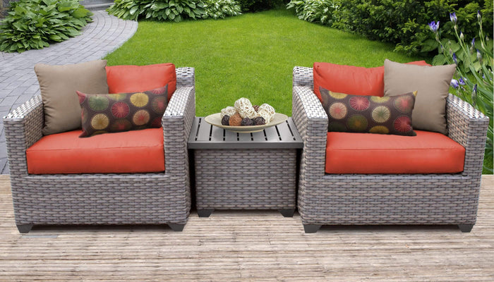 Patio Furniture - TKC Outdoor Wicker Patio Furniture Set 3 Pieces – Florence