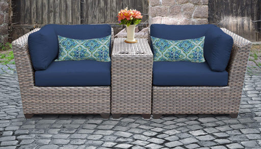Patio Furniture - TKC Outdoor Wicker Patio Furniture Set 3 Pieces Divided Loveseat – Florence