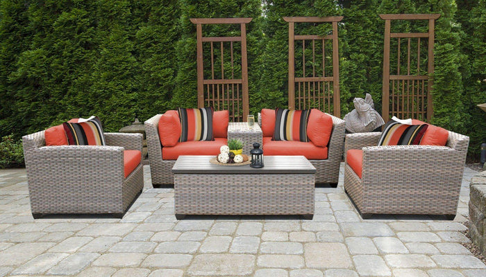 TKC Outdoor Wicker Patio Furniture – 6 Piece Set with Storage Coffee Table – Florence