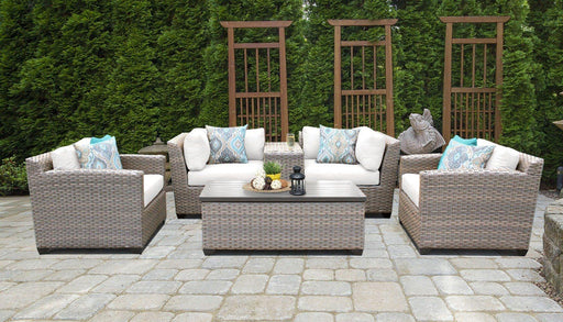 Patio Furniture - TKC Outdoor Wicker Patio Furniture – 6 Piece Set With Storage Coffee Table – Florence