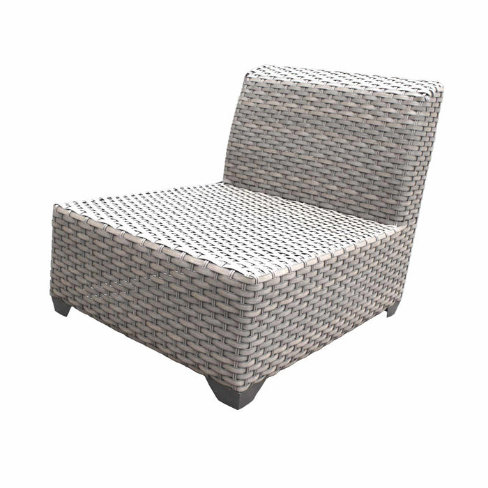 TKC Outdoor Wicker Patio Furniture – 3 Piece Sofa & Clips – Florence