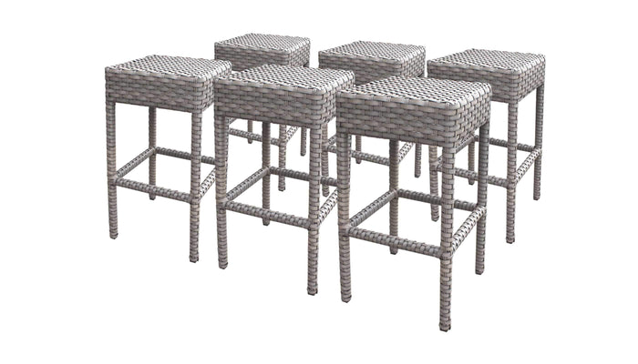 Barstools - TKC Outdoor Wicker Backless Barstools – Florence