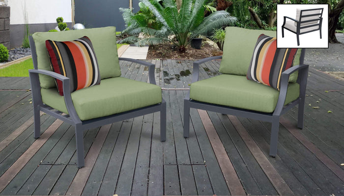 Patio Furniture - TKC Aluminum Patio Furniture – Set Of 2 Club Chairs – Lexington