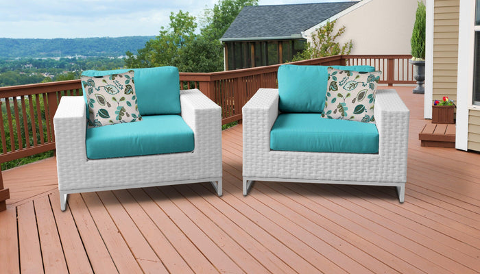 TKC Outdoor Wicker Patio Furniture – Set of 2 Club Chairs – Miami