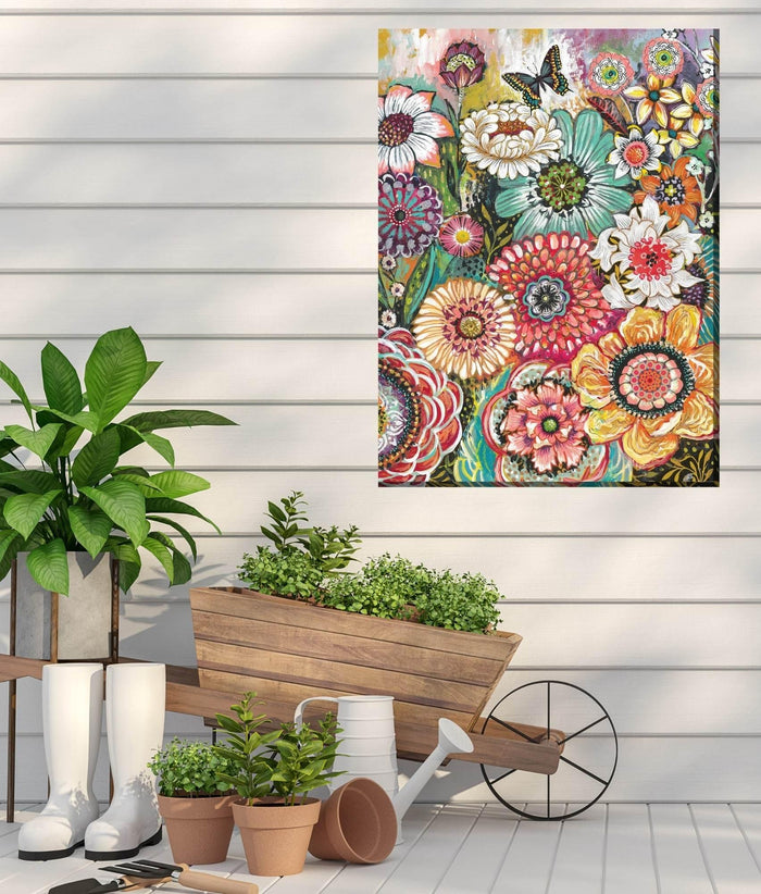 Outdoor Canvas Art 30x40 Petal Party