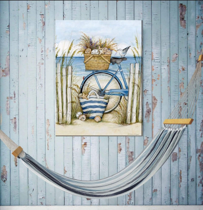Outdoor Canvas Art 30x40 Beach Bike