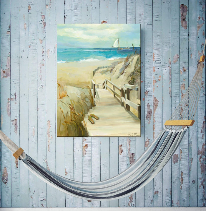 Outdoor Canvas Art 30x40 Barefoot Beach