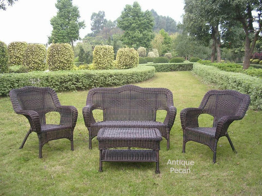 Outdoor Furniture - Outdoor Seating Group – 4 Piece Resin Wicker & Steel – Maui