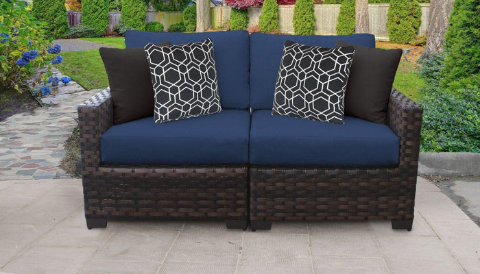 Patio Furniture - Wicker Patio Furniture – Kathy Ireland Homes & Gardens - 2pc Loveseat