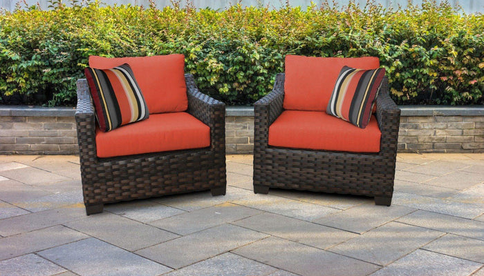 Wicker Patio Furniture – Set of 2 Club Chairs kathy ireland Homes & Gardens